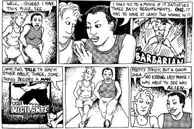 貝克德爾的連環漫畫「小心女同志」其中一話「規則」(節錄)。(取自Wikipedia)