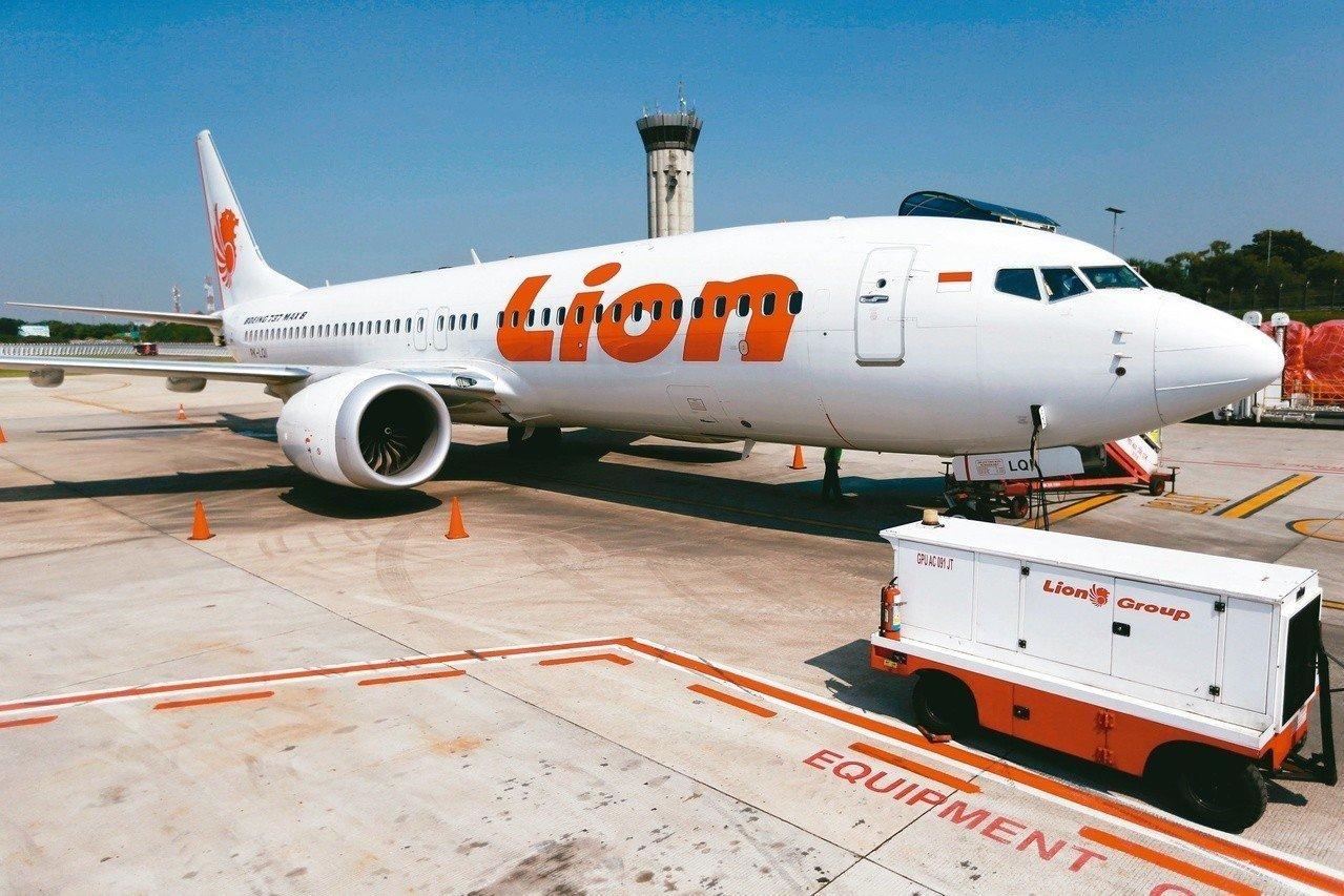 印尼獅航一架波音737MAX客機去年十月墜毀,圖為同型客機。(路透)