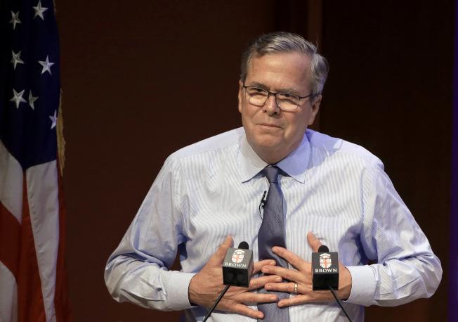 前共和黨總統參選人和前佛羅里達州州長傑布‧布希。(美聯社)
