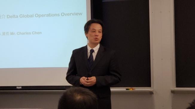 台達人資長 陳啟禎分享台達經營理念、人才策略與全球營運版圖。(記者唐嘉麗/攝影)