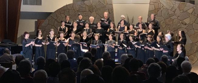聖地牙哥華聖合唱團舉行年度音樂會「旋律與漫想」,場面盛大隆重。(記者陳良玨/攝影)