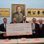 中華公所畢業鼓勵金 雲吞公司捐5萬元