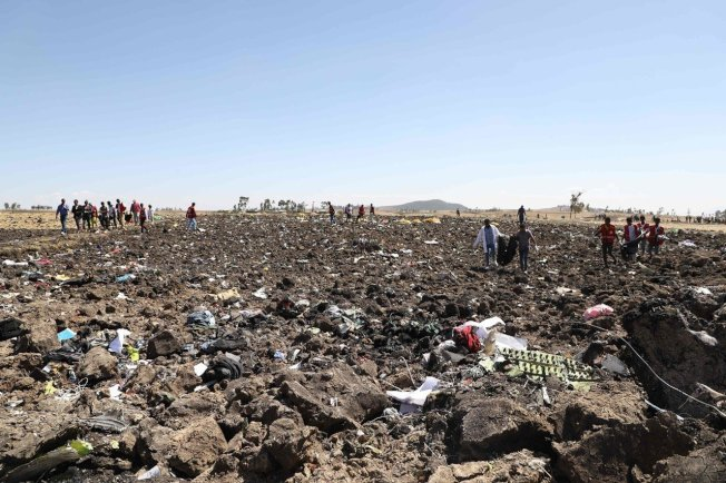 衣索比亞航空的波音MAX 8客機3月10日發生空難,157人罹難。圖╱Gettyimage