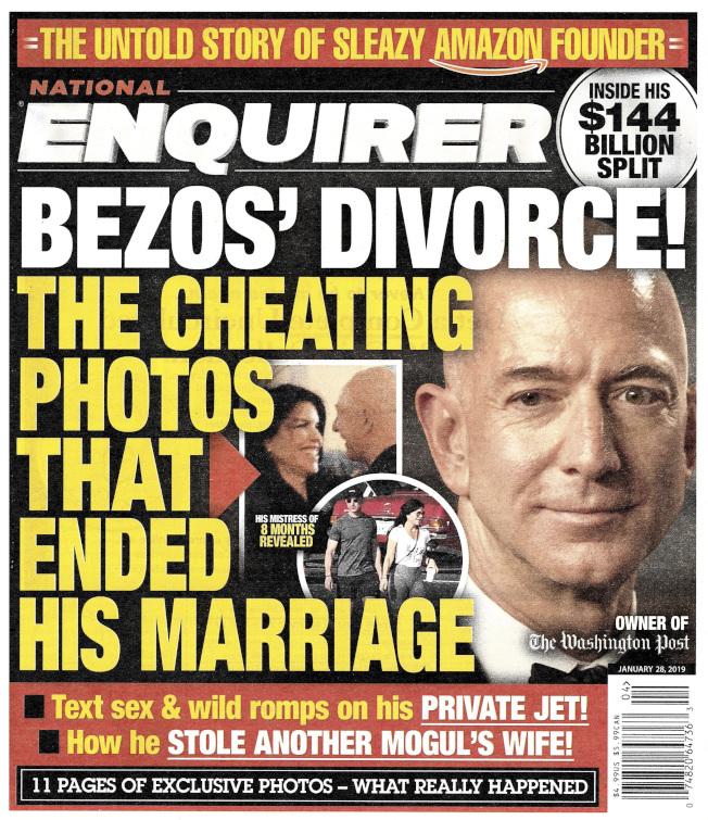 貝佐斯的天價離婚,一直是八卦雜誌追逐的目標。(美聯社)