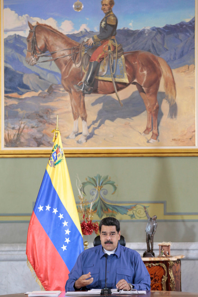 根據今年3月公布的指數,2018年最痛苦的國家是委內瑞拉,以174萬6439.1分排名第一。圖為委國總統馬杜洛。 (路透)