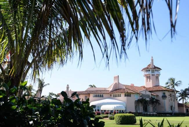 總統川普在佛羅里達州的海湖莊園。(美聯社)