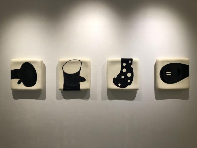 郭旭達的陶瓷作品。(記者洪群超/攝影)