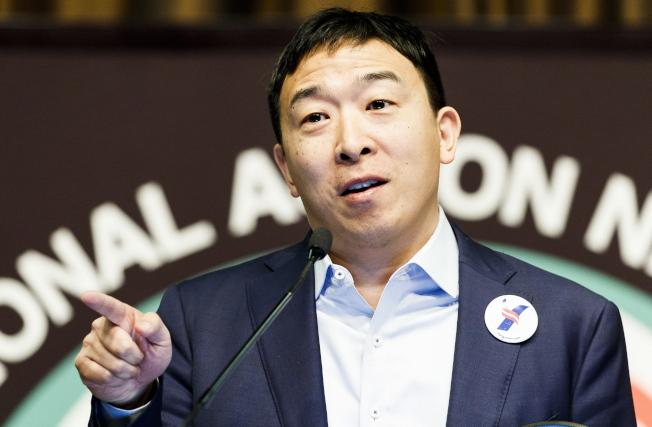 華裔參選人楊安澤。(歐新社)