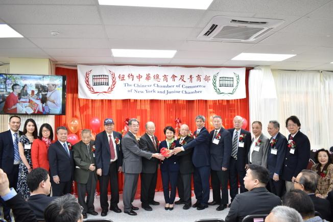 紐約中華總商會於7日在曼哈頓華埠舉行第70屆職員就職典禮暨餐會。(記者顏嘉瑩/攝影)