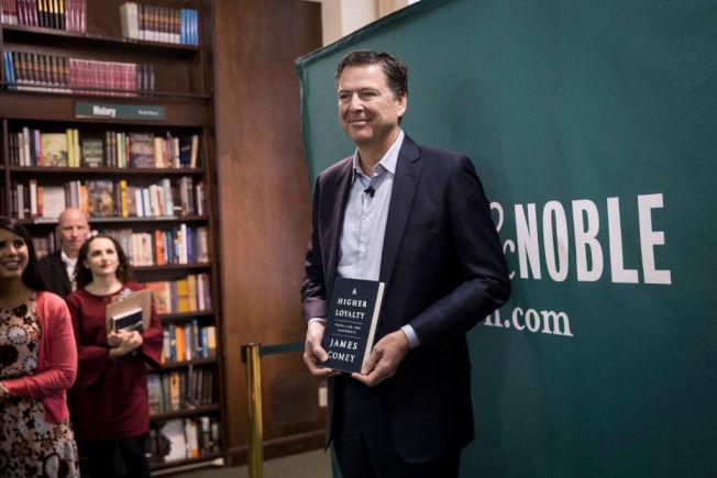 被川普开除的前联邦调查局长柯米,出版回忆录诉说真相。(Getty Images)