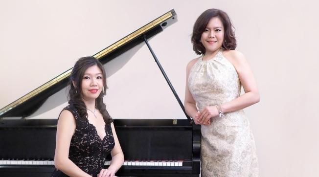 楊嵐茵(左)與陳孜怡(右)創立的「文藝復興雙鋼琴」12日在卡內基音樂廳演出,創作曲「台灣素描」將首度演出。(取自「文藝復興雙鋼琴組合」網站)