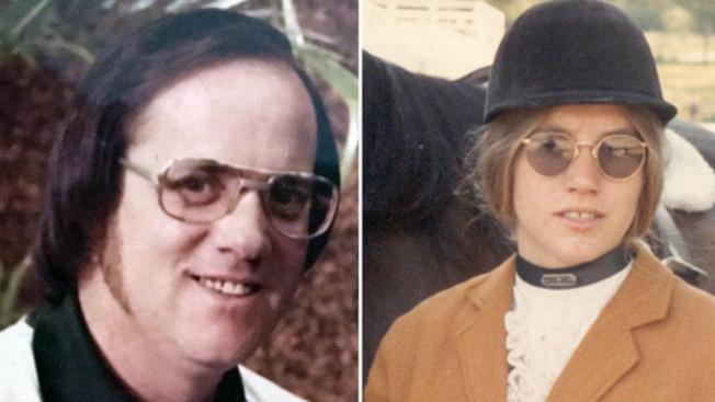 米勒(左)涉嫌於1972年謀殺20歲的喬迪‧盧米斯(右)。(KIRO電視台截圖)