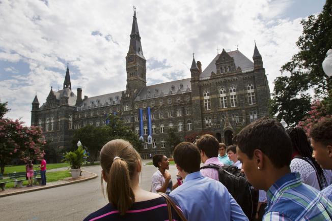 喬治城大學學生以二比一票數通過設立基金,替19世紀被耶穌會出賣的黑奴討公道,籌錢償還這些奴隸的後代。圖為該校校園。(美聯社)