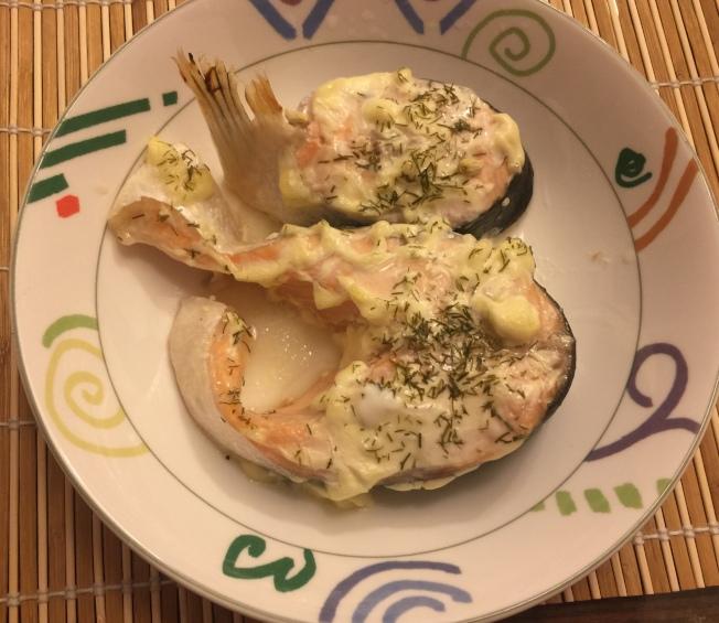 烤美乃滋鮭魚