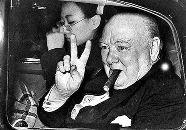 劉思麟當邱吉爾的私人秘書。(取材自北京青年報)