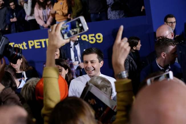 印州南灣市長布塔朱吉14日宣布正式參加民主黨總統提名初選。(Getty Images)