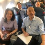 韓國瑜抵聖荷西   機上準備史丹福演講稿