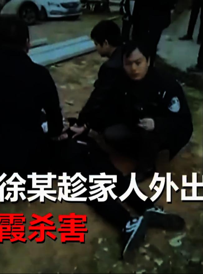 徐男被警方控制。(視頻截圖)