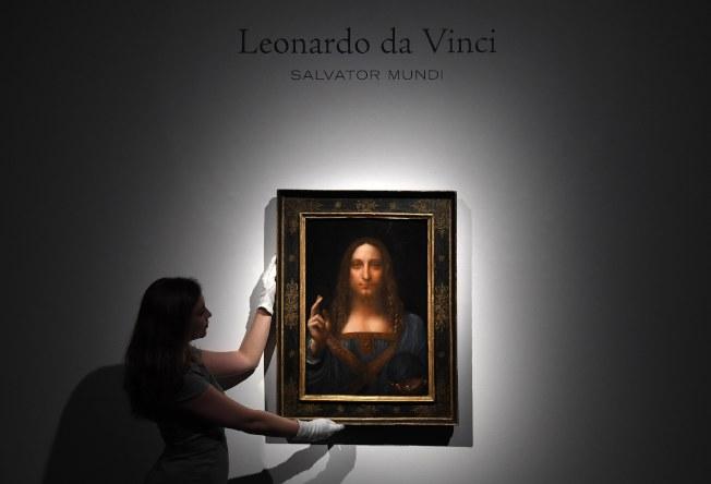 達文西畫作「救世主」於2017年以4.5億美元賣出,是世界上最貴的名畫,但有藝術學者踢爆,這可能只是1175美元的贗品。(歐新社資料照片)