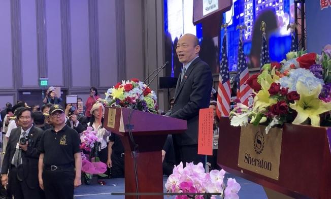 韓國瑜辛辣直言,「台灣過去的20、30年都在鬼混」。(記者高梓原/攝影)