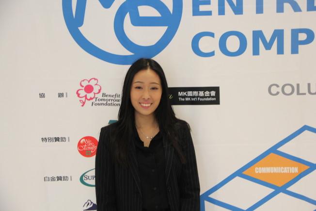 吳艾瑋是去年的亞軍,今年回歸比賽擔任志願者。(記者李晗 / 攝影)