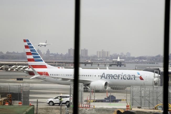 美國航空公司14日宣布8月中以前,每天取消115波音737 Max航班。(美聯社)