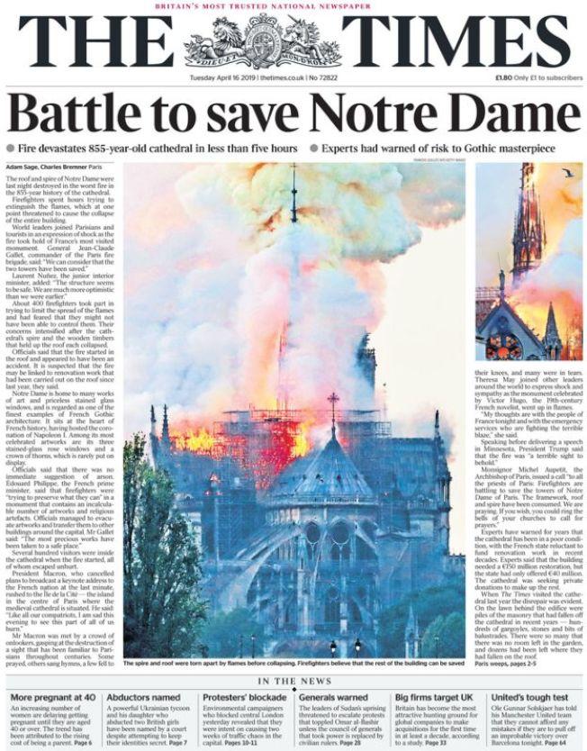 泰晤士報。(取自BBC)