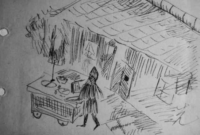 作者十二歲時的隨手畫。