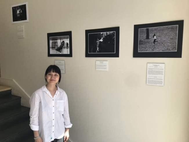 孟明美的移民女性肖像故事攝影展,用鏡頭記錄女性的勇氣。(記者張晨/攝影)