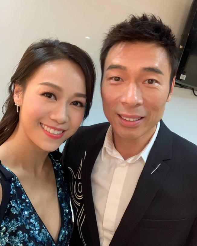 許志安(右)爆出偷吃黃心穎(左)。(取材自Instagram)