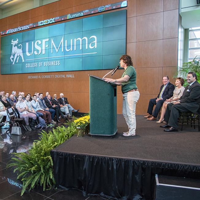 外州學生學費最便宜的公立大學,是南佛羅里達大學 。圖為南佛羅里達大學Muma商學院。(南佛羅里達大學官網)
