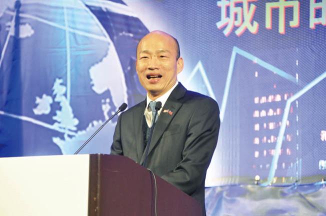 韓國瑜訪美最後一站,在灣區舉辦3000人演講會。(記者李榮╱攝影)