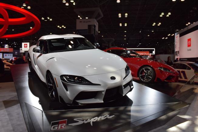 「2019紐約國際車展」展出各種暢銷車款、概念車,讓愛車人士大飽眼福。(記者顏嘉瑩/攝影)