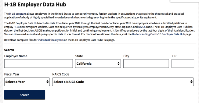 移民局推出H-1B雇主數據平台,透明公開願意贊助民眾H-1B工作簽證的雇主公司名單,及其過去多年來申請案的批准及拒絕比例。(USCIS)