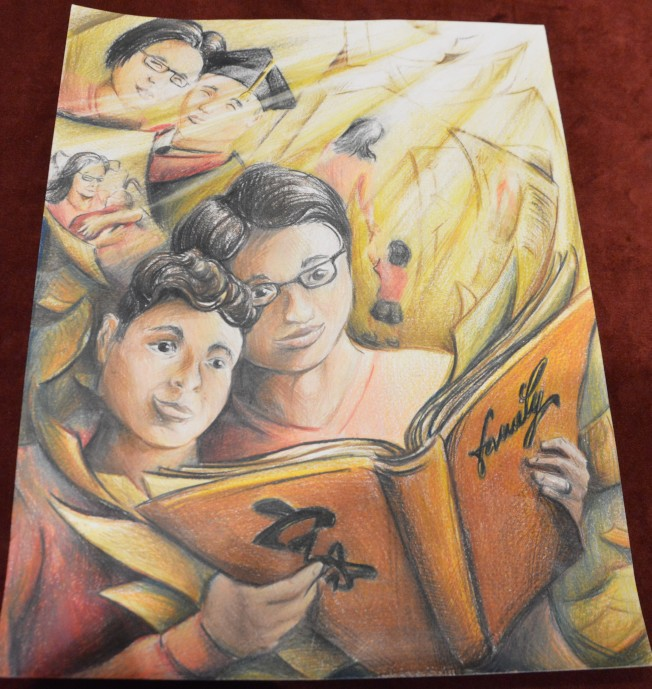 Alex Gu的作品獲得青少年組的第一名。(記者牟蘭/翻攝)