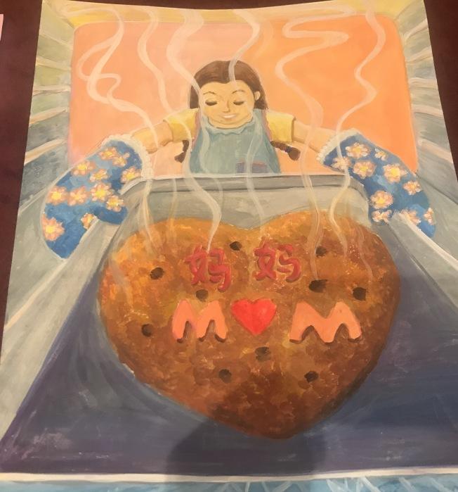 Chelsea Hu的作品獲得高童組第一名。(記者牟蘭/翻攝)