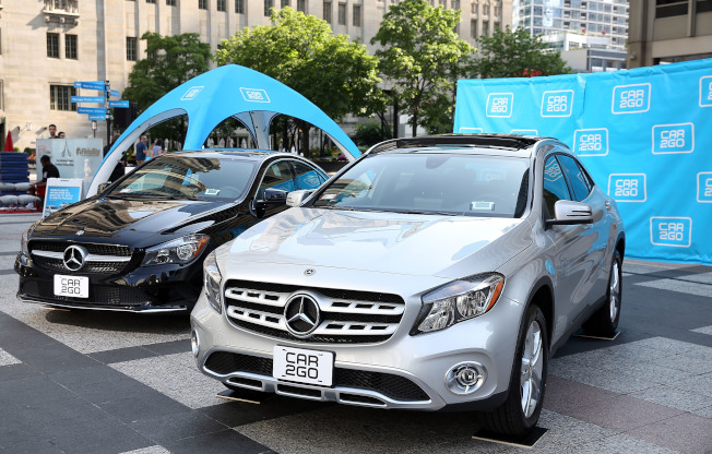 汽車共享服務公司「car2go」已暫停在芝加哥的服務 ,因為有100輛車下落不明、其中50輛是賓士汽車。(Getty Images)