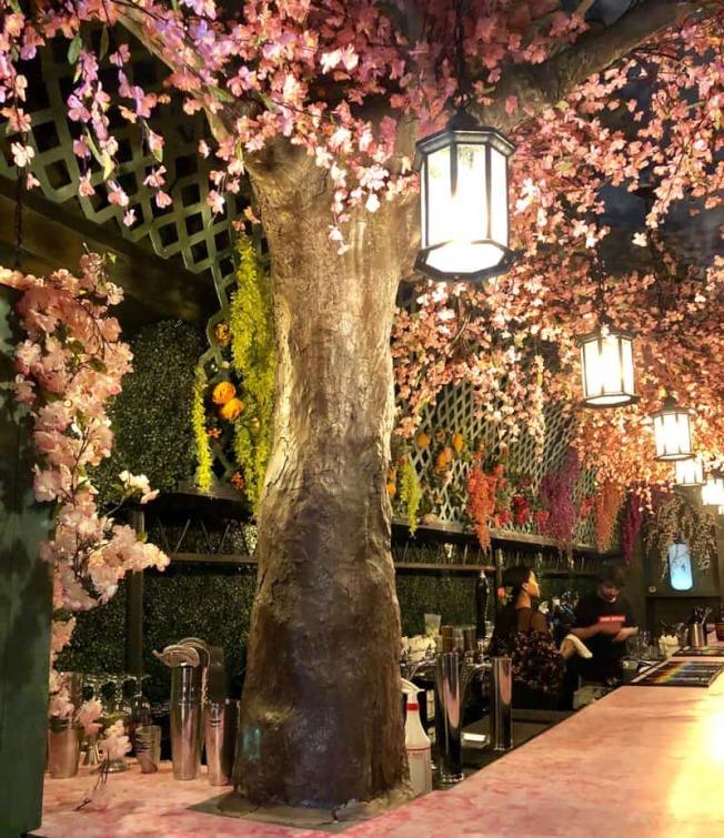 熱門限時活動「櫻花快閃酒吧」,將在本周末收尾。(櫻花酒吧提供)
