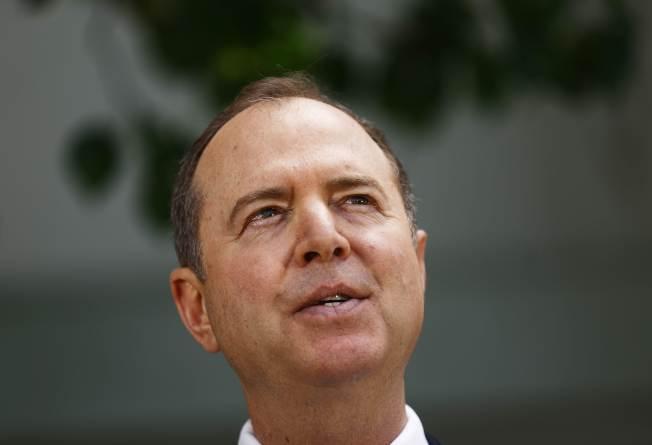 民主黨籍國會眾院情報委員會主席謝安達說,穆勒報告提供了川普妨礙司法的證據,國會將繼續追查。(Getty Images)