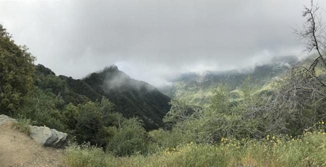 山在虛無縹緲間。
