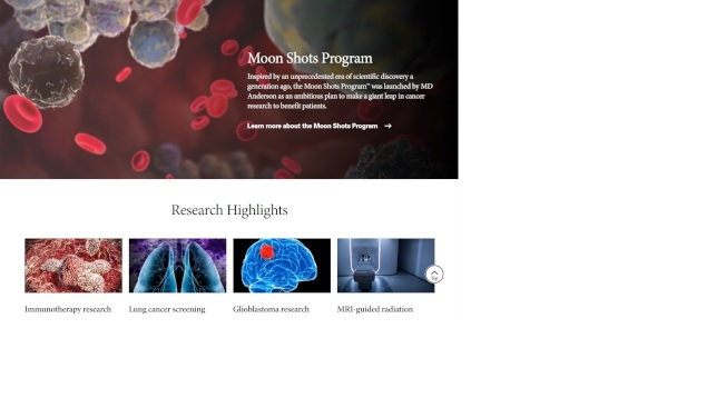 德州安德森癌症中心進行的醫學研究。(安德森癌症中心)