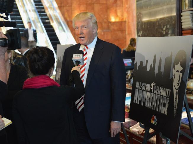 川普曾任「誰是接班人」主持人兼製作人。(Getty Images)