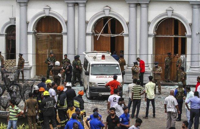 斯里蘭卡連環爆炸案,警方已逮捕3名嫌犯。 美聯社