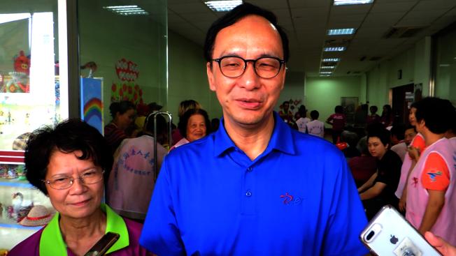 國民黨中央擬徵召韓國瑜參加初選,朱立倫嘆:「這是找韓麻煩。」(記者羅紹平/攝影)