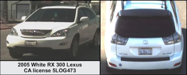 蔡瓊珍丟失的白色2005年Lexus RX300休旅車,後來被警方找到。(洛縣警局)