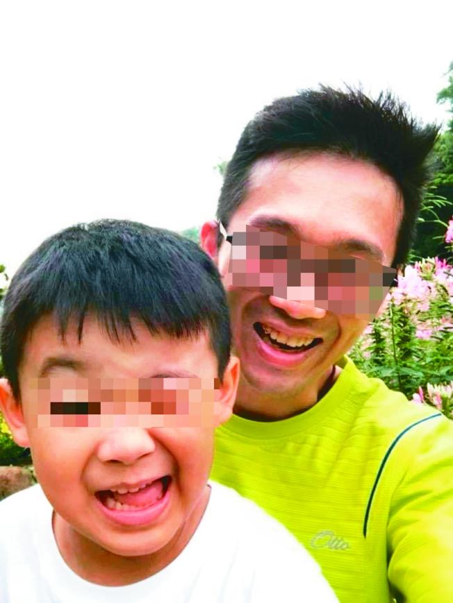 年僅七歲的吳小弟弟(左)和十歲姊姊死在家中,生父吳姓男子(右)涉有重嫌。(記者林昭彰/翻攝)