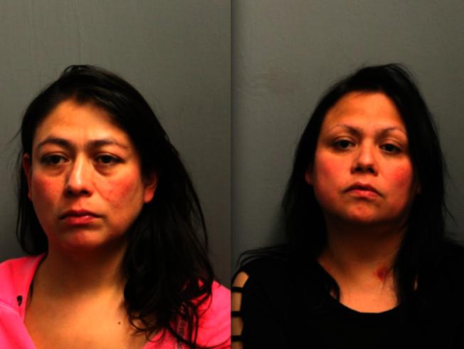 艾絲美拉達.賽雷諾(左)、安德里亞.賽雷諾(右)與16歲男孩發生性關係,被控性侵。(芝加哥警局)
