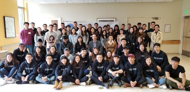 參與各校台灣學生會長(代表)聯席會的同學與學聯幹部、來賓合影。(記者唐嘉麗/攝影)
