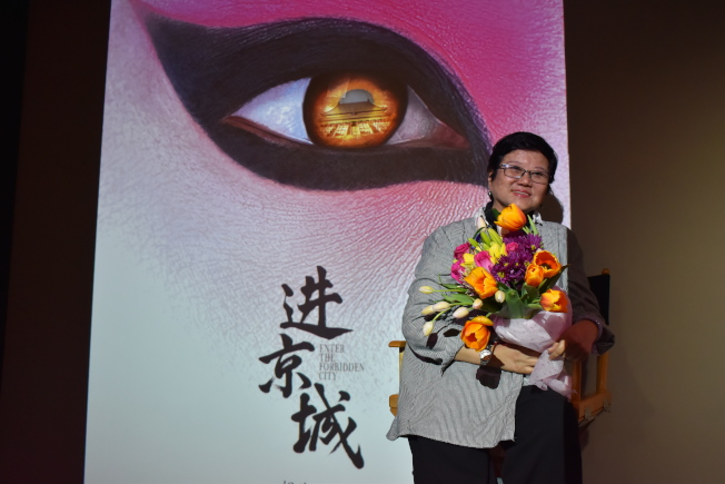 胡玫表示,自己原是京劇門外漢,但拍攝過程中漸漸了解京劇,也希望讓更多人認識京劇。(記者顏嘉瑩/攝影)
