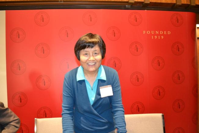 李南央表示,李銳對於胡佛收藏自己的文獻非常高興欣慰。(記者周喆/攝影)